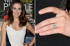 our favorite celebrity engagement rings divided by style brides
