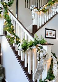 Christmas Lights For Stair Banisters 30 Beautiful Christmas Decorations That Turn Your Staircase Into A