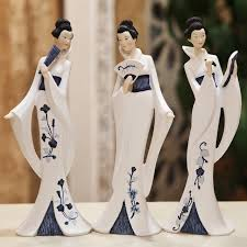 japanese style beautiful feng shui crafts resin figurines