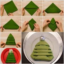 diy tree napkin folding