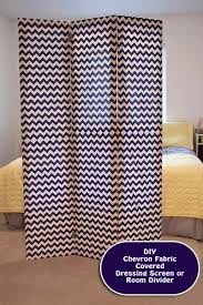 Diy Room Divider Screen Diy Room Divider Dressing Screen Chevron Fabric Project