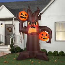 inflatable halloween cat gemmy airblown inflatable 10 5 u0027 x 7 u0027 brown scary tree halloween