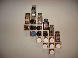 Kitchen Spice Racks For Cabinets Kitchen Backsplash Wall Hanging Spice Rack Under Wooden Cabinets