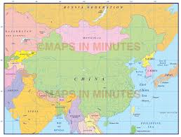 Map Scales China First Level Political Country Map 10 000 000 Scale In