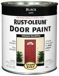 Black Exterior Gloss Paint - rust oleum 238310 door paint black 1 quart house paint