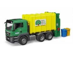 land rover bruder bruder man rear loading gargage truck by bruder toys bta03764