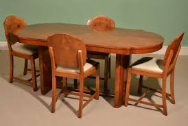 antique art deco dining table 4 cloudback chairs c 1920