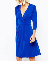 selected issa wrap dress in blue lyst