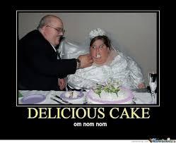 Meme Om - delicious cake om nom nom funny cake meme poster