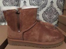 womens sheepskin boots size 11 ugg australia womens braiden chestnut suede boots size 11 ebay