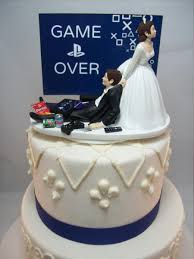 cool cake toppers playstation wedding cake topper can