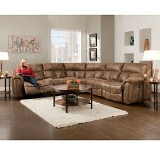 Reclining Sofa With Chaise by Reclining Sectionals Franklin Furniture