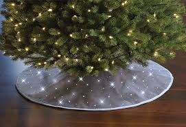 christmas tree skirts cordless twinkling christmas tree skirt the green