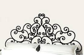 queen bed frame post scroll style headboard removable bedroom wall