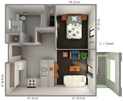 1 bedroom homes one bedroom apartments plans ihousefloorplans housing dining 1