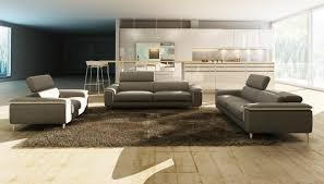 Modern Italian Leather Sofa Casa 990 Modern Grey And White Italian Leather Sofa Set