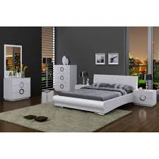 Small Bedroom Furniture Sets - White high gloss bedroom furniture set