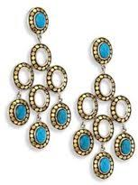 Turquoise Chandelier Earrings Polyvore Gold Turquoise Chandelier Earrings Chandelier Gallery