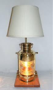 large vintage br nautical anchor lantern table lamp skipjack