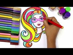 barbie coloring pages youtube toddler coloring video preschool activity for kids fun colors