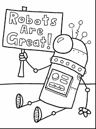 terrific printable robot coloring page with robot coloring page