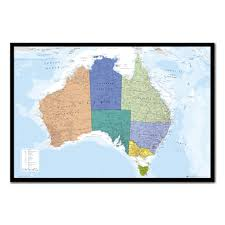 Large World Map Poster Australia U0026 Tasmania Map Pinboard Cork Board With Pins Iposters