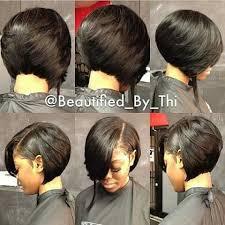one side stack sassy bob bllack hair bob pinteres