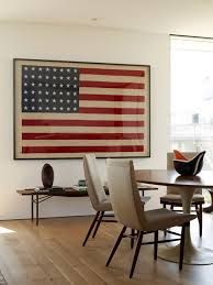 American Flags Symbolizing One Of Interior Designs Most - Dining room framed art