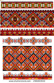 ukrainian folk ornament set stock vector 266458283