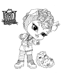 baby monster high coloring pages ba monster high coloring page