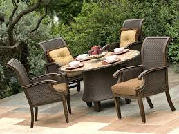 Model Home Furniture Clearance by Patio Ideas Garden Treasures Palm City 5 Piece Black Steel Patio