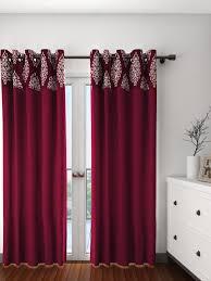 Maroon Curtains Curtains Buy Window Door Sheers Online Myntra Fashion String Set