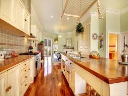 galley kitchens designs ideas amazing large galley kitchen design with glossy wooden floor and