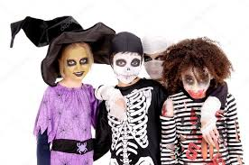 Kids Halloween Scary Costumes Kids Scary Costumes Halloween U2014 Stock Photo Verkoka