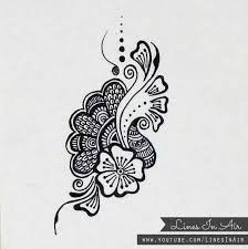 tattoo sketches flowers line ideas mehndi henna henna tattoo