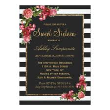 gold sweet 16 invitations announcements zazzle