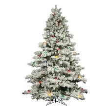 artificial christmas trees multi colored lights vickerman 9 flocked alaskan pine artificial christmas tree with 900