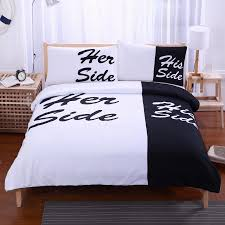 his and hers bed set black bedding set his side side home textiles soft duvet