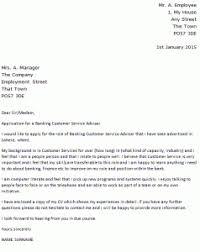 banking customer service adviser cover letter example icover org uk