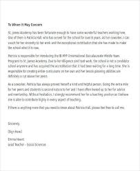 sample teacher recommendation letter business recommendation