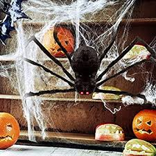 Motion Activated Outdoor Halloween Decorations by Amazon Com Hotsan Giant Halloween Spider 50