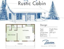 Cabin Floor Plan by Lawson Construction In House Floor Plans