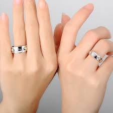 couples ring sets blue sweet rings engraved wedding rings with diamond