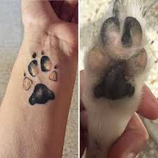 dog paw prints make the most awesome tattoos screenhumor