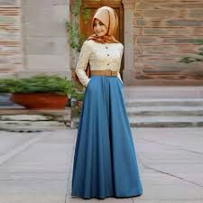 maxi muslim dress according to the latest fashion trends