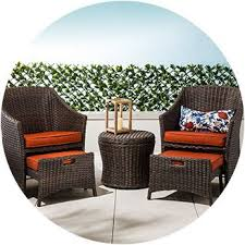 Patio Chair With Ottoman Patio Furniture Sale Target