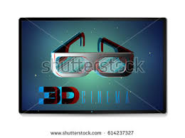 words 3d 3d glasses on stock vector 614237327