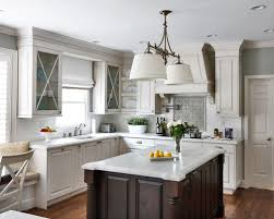 White Kitchen Cabinets With Glaze Glazed White Kitchen Cabinets U0026 Carrera Marble Tops