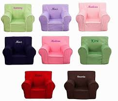 Childs Pink Armchair Kids Personalized Foam Arm Chairs