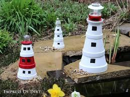 Lighthouse Garden Decor Diy Clay Pot Lighthouses Clay Pot Lighthouse Diy Clay And